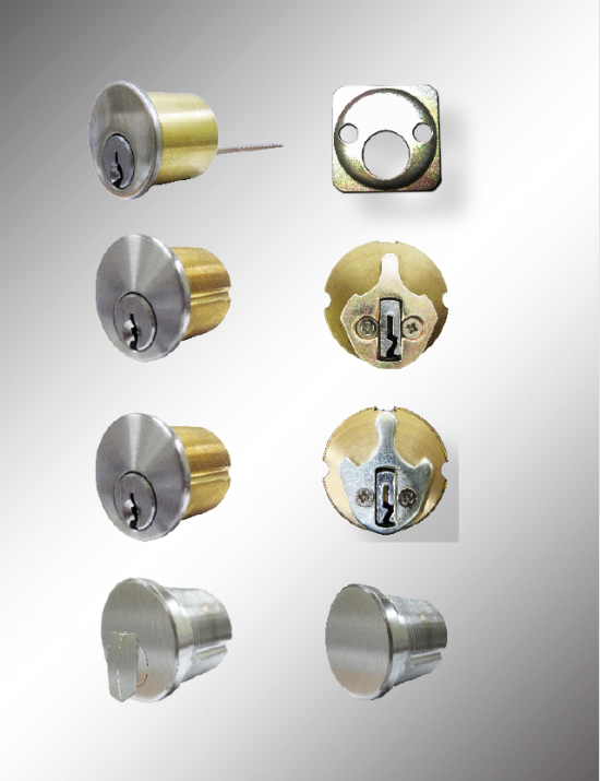 "6 Pin Schlage ""C"" Keyway Mortise and Rim Cylinder"