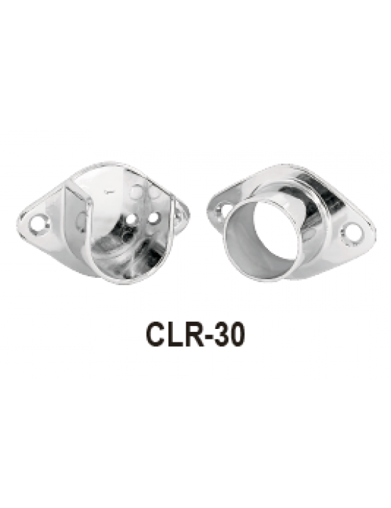 CLR-30, CHROME PLATED CLOSET POLE SOCKET