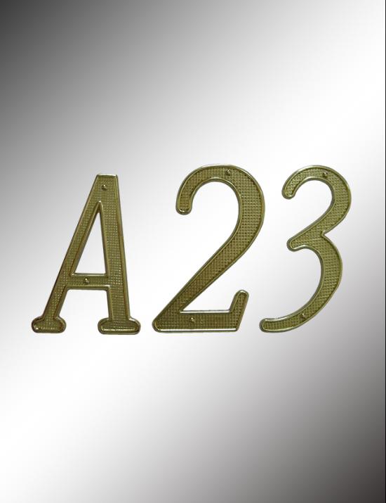 Diecast numbers & Letters, PN20BK & PN20US3
