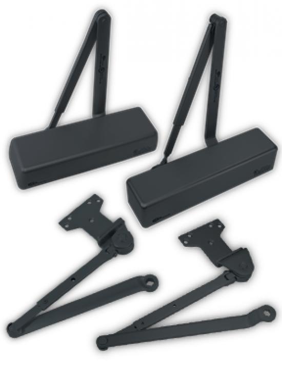 Door Closers & Accessories in Black Finish