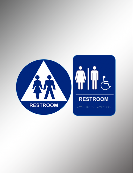 Restrooms & Exit Signs