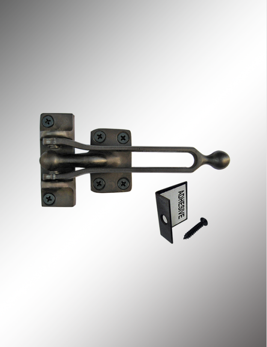 Solid Brass Door Guard Packed with Angle Protector, SBDG00