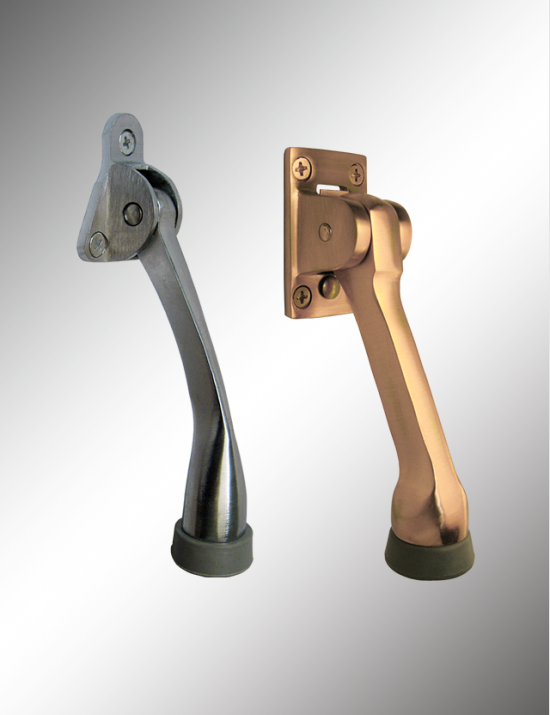 Solid Brass Kick Down Door Holder