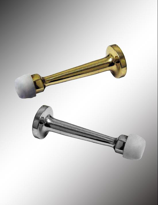 Solid Brass Rigid Door Stop With Molded Screw, SBRS