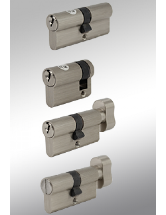 "6 Pin Schlage ""C"" Keyway European Profile Mortise Cylinders"